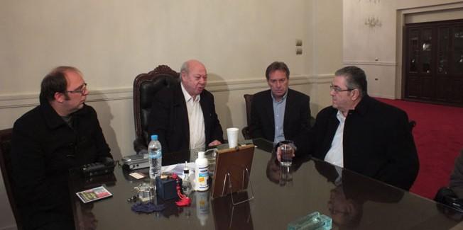Ο  Γ.Γ. του ΚΚΕ Δημ. Κουτσούμπας συναντήθηκε με τον Δήμαρχο.