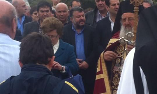 Στην Ιερά Μονή Θεμάτων ο Θ. Μιχαλάτος.