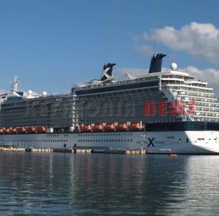 Ένα υπέροχο τεράστιο κρουαζιερόπλοιο.