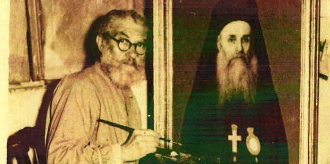 Ο αρχιμανδρίτης αγιογράφος –  προσωπογράφος  Παρθένιος Λουκέρης.