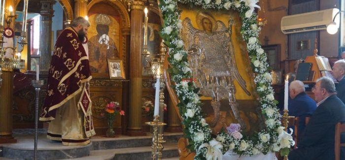 Πανηγυρική θεία Λειτουργία από τον  π. Ιωάννης Φραγκισκάτος στον ΙΝ Αρχαγγέλων στο Ληξούρι.