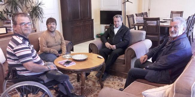 Τον Περιφερειάρχη  επισκέφθηκε ο  Νομαρχιακός Σύλλογος Ατόμων με Αναπηρία Κέρκυρας
