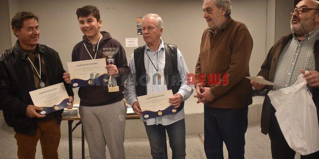 Μεγάλη επιτυχία σημείωσε το 22ο Ατομικό Πρωτάθλημα Σκάκι