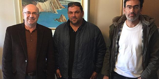 Συνάντηση με το πρόεδρο των Αλιέων Κεφαλονιας κ Σπύρο Βουτσινα
