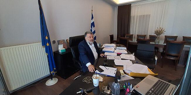 Τηλεδιάσκεψη εργασίας υπό τον Πρωθυπουργό κ.Κυριάκο Μητσοτάκη.