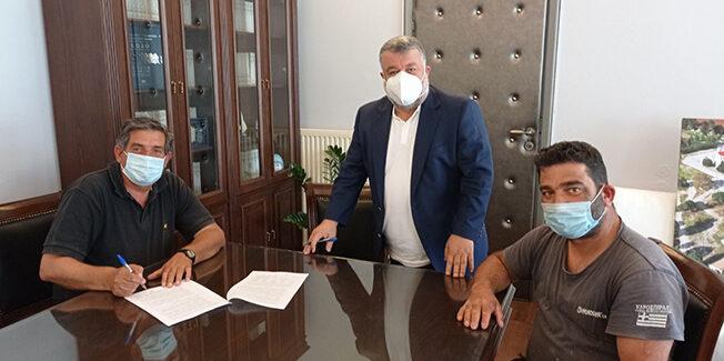 Ο Δήμος προχώρησε στην  υπογραφή δύο σημαντικών συμβάσεων κατασκευής έργου