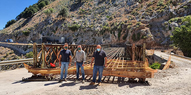 Αυτοψία στην πληρως ανακαινισμένη γέφυρα της Αγίας Βαρβάρας