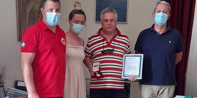 Την Κεφαλονιά, επισκέφθηκε ο Γραμματέας του Σερβικού Ερυθρού  Σταυρού Nikola Prica,