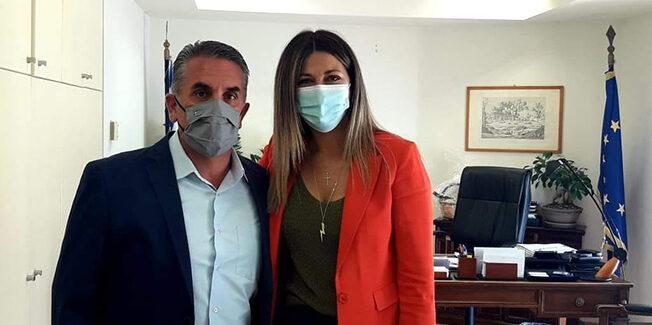 Με την Υφυπουργό  Σοφία Ζαχαράκη συναντήθηκε ο Δήμαρχος Ιθάκης