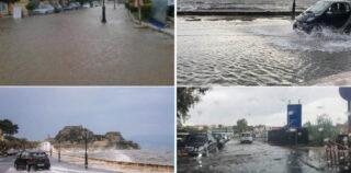 Πλημμύρες στην Κέρκυρα..
